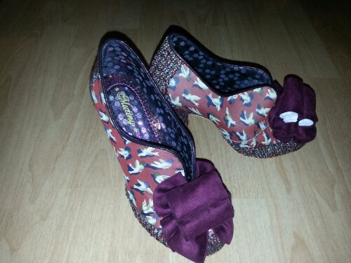Irregular choice heels with tweed
