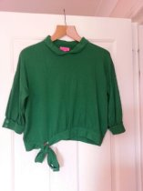 Monsoon fusion bright green jumper